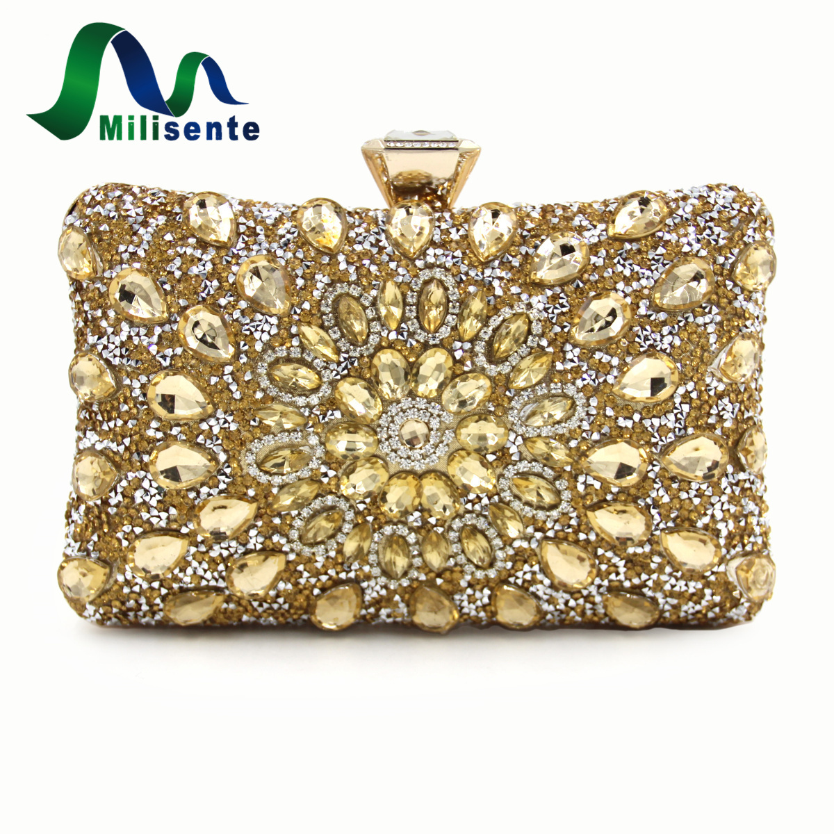 Milisente New Arrivel Women Evening Clutch Bag Gold Clutches Bags Red Wedding Clutches For ...