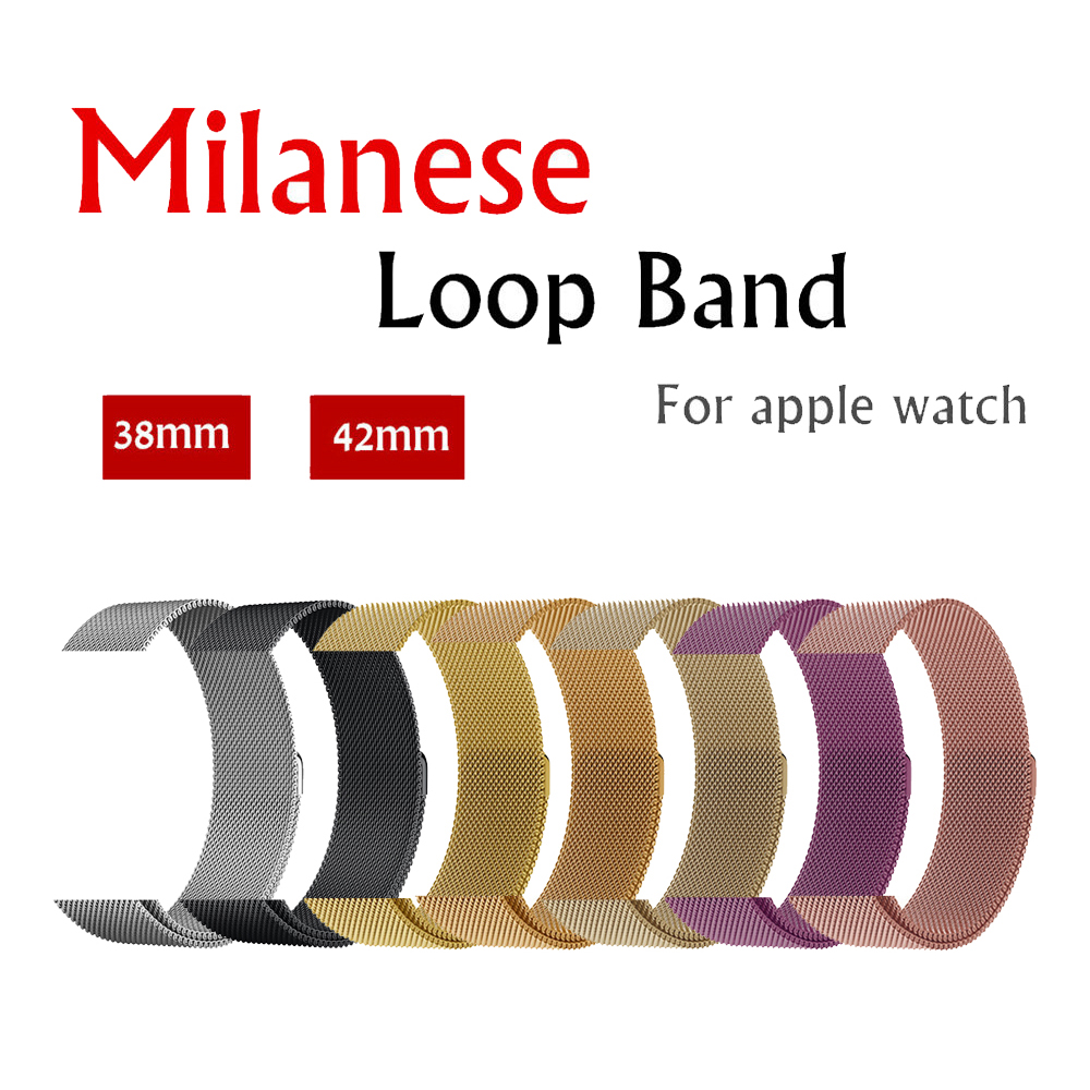 Milanese Loop strap band For Apple Watch 42mm/38mm iwatch 3/2/1 Stainless Steel Link Bracelet wrist watchband magnetic buckle milanese loop watch strap men link bracelet stainless steel woven black for apple watchband 42mm 38mm iwatch free tools