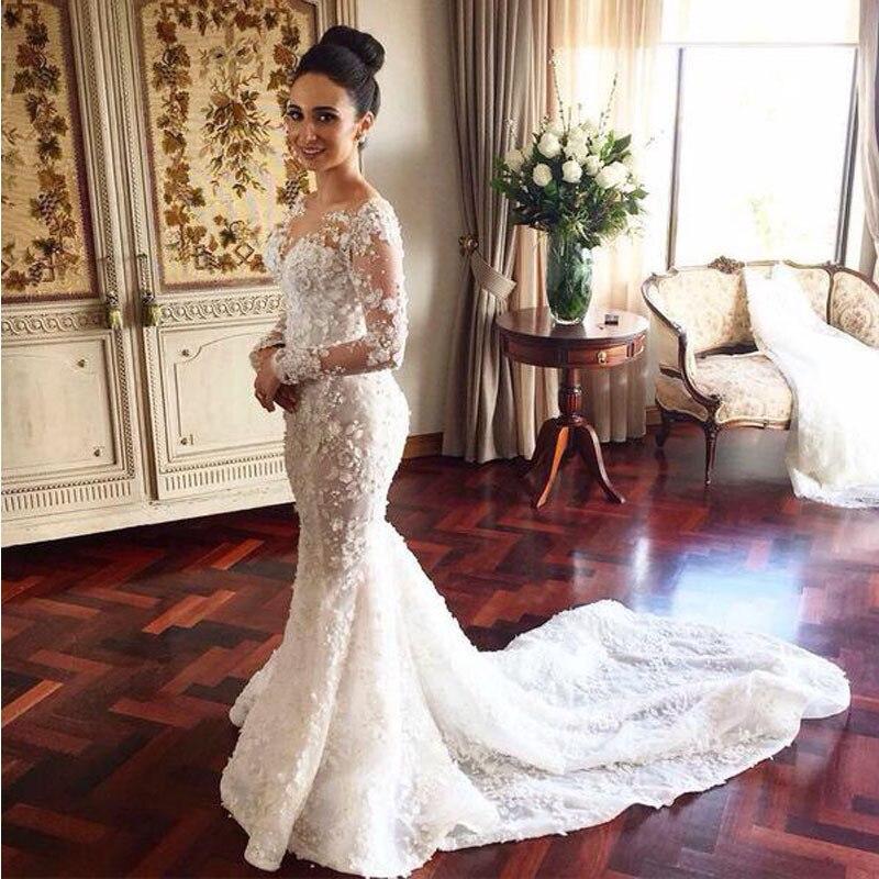 Mermaid Wedding Gown With Train | Wedding