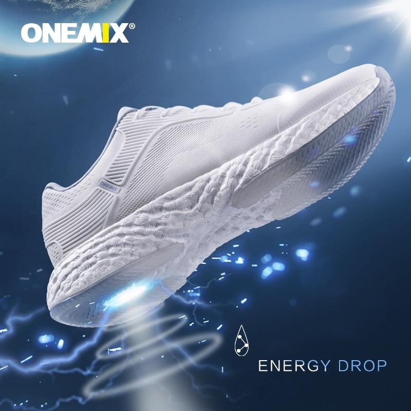 Onemix Hommes Chaussures de Course pour Femmes Noir Maille Air Coussin Respirant Designer Jogging Sneakers Sport En Plein Air de Marche Formateurs - 4