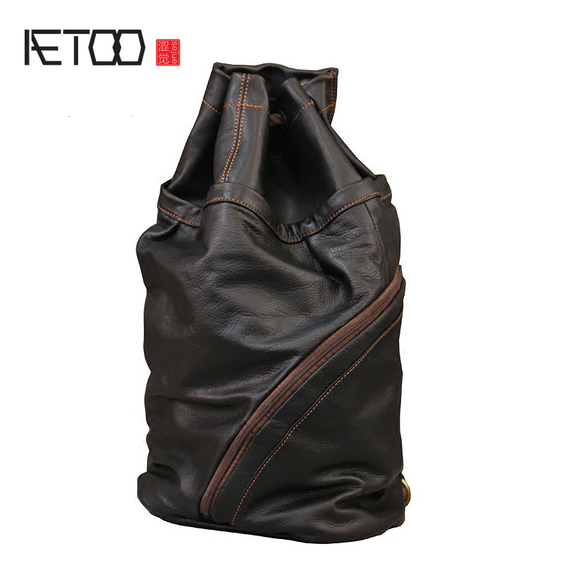 AETOO Personalized pieces of soft cowhide buckets bag strap strap leather large capacity men and women common shoulder bag steven goldberg h billions of drops in millions of buckets why philanthropy doesn t advance social progress