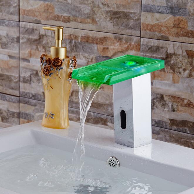 Digital Touchless sensor led Basin faucet auto digital faucet mixer Basin Bathroom faucet sink faucet Tap Torneira - 3