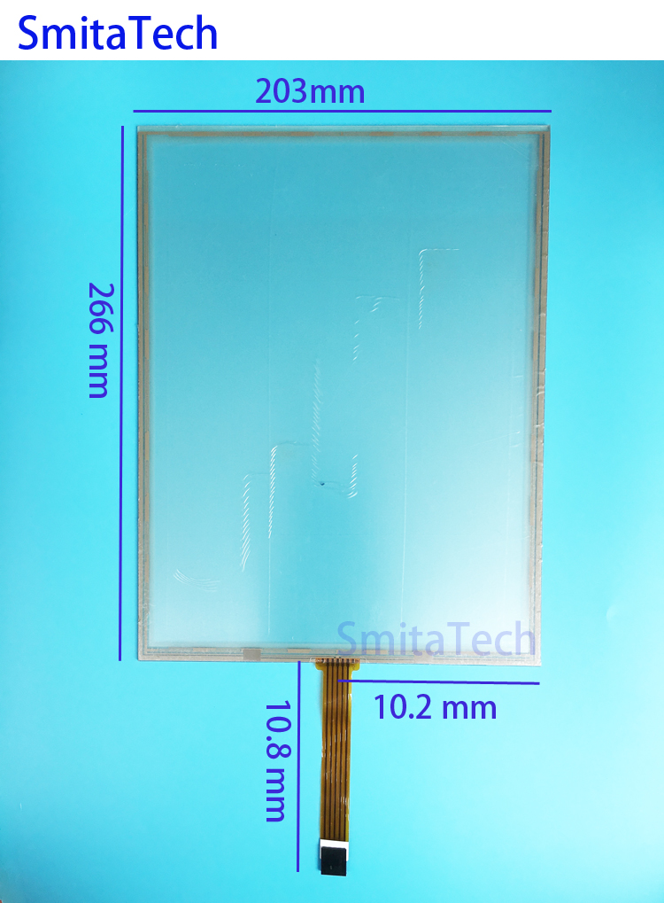 12 inch 5 wire 266x203mm Resistive Touch screen Digitizer panel 203mm*266mm цена