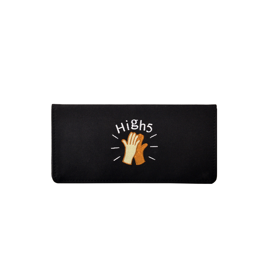 Funny canvas embroidery long wallets in FUNNY series 6styles(FUN KIK)
