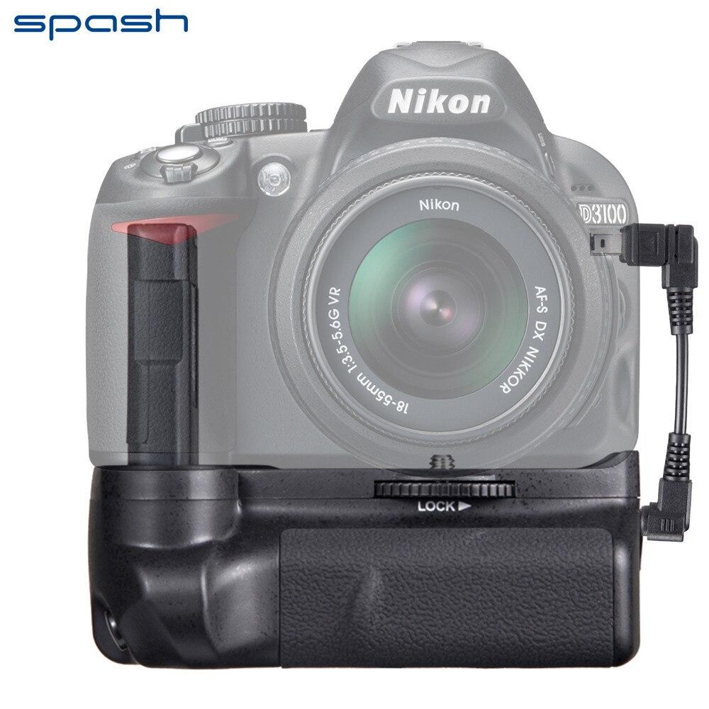 Spash Multi-Мощность вертикальный Батарейная ручка для <font><b>Nikon</b></font> D3300 <font><b>D3200</b></font> D3100 камеры Батарея рукоятки держатель работать с EN-EL14 Батарея