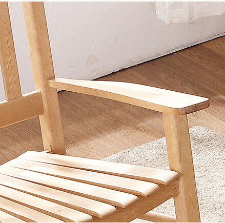 Rocking Chair Wood Natural Lving Room Furniture American Country Modern  Style Adult Recliner Large Rocker Rocking Chair Designs