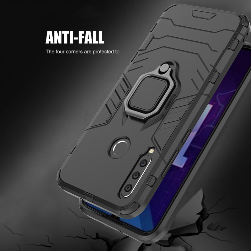 Image 4 - honor 10i Case For Huawei honor 10i case Shockproof Armor Ring Magnetic Car Hold Soft Bumper Cover For Huawei honor 10i Case-in Fitted Cases from Cellphones & Telecommunications