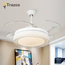 TRAZOS 36 Inch LED Ceiling Fan For Living Room Lights Modern Cooling Fans Home Lighting Lamps Fixtures