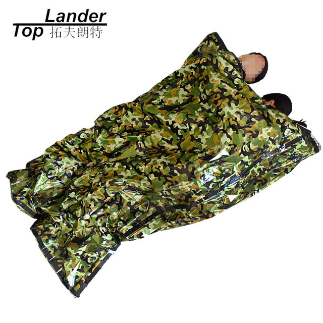 Survival Emergency Sleeping Bag Waterproof Hiking Climbing Lightweight Ultralight Camping Camouflage Double Sleeping Bag Outdoor