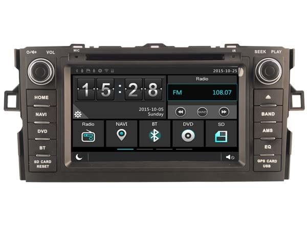 Для Тойота Auris 2007-2011 DVD-плеер автомобиля стерео автомобиля аудио головное устройство емкостный сенсорный экран МЖК DVR автомобиля мультимедиа