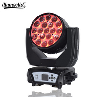 19X15W LED zoom moving head light RGBW Wash dmx 512 beam party lights for stage lighting equipment/wedding/ bar/ club
