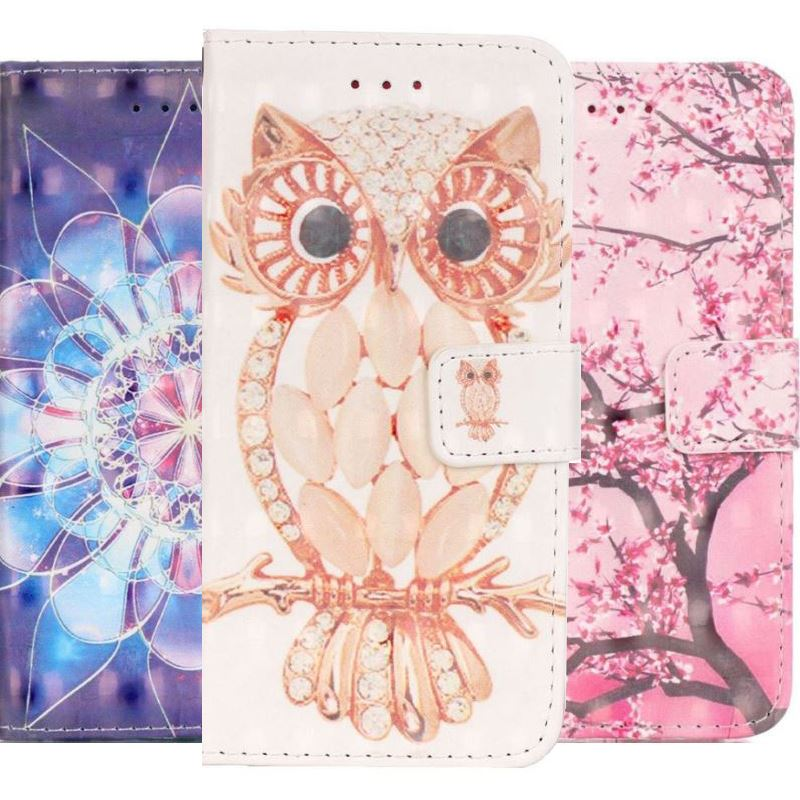 For iPhone 7 8 6 6S Plus 5 5S ipod touch 6 Luxury Flip Case Cute Cherry Tree Balloon Bear Chimes Wallet Card Pocket Cover E03Z