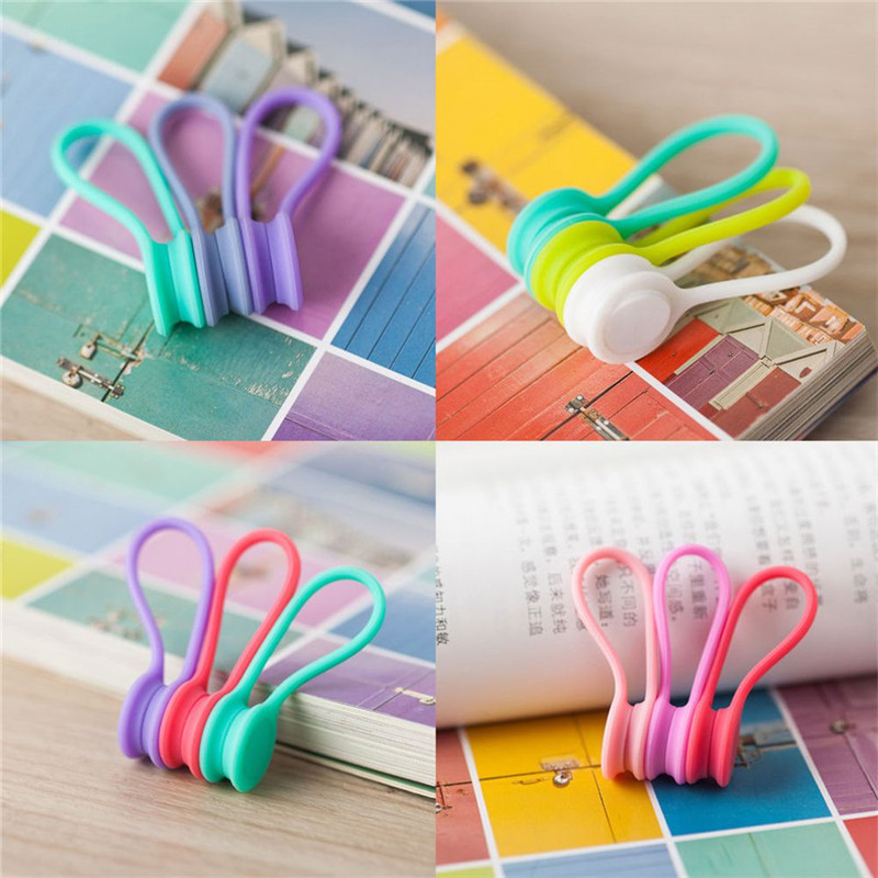 3Pcs/Pack Earphone Cord Winder Cable Holder Organizer Clips Multi Function Durable Magnet Headphones Winder Cables Drop Shipping