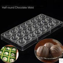 (1 sztuk) wysokiej jakości gorąca sprzedaż z poliwęglanu półokrągłe formy czekoladowe Candy PC czekoladowe formy taca budyń pół okrągłe tanie tanio Narzędzia do pieczenia i cukiernicze CE UE foremka na czekoladę GTLCONIE Ekologiczne B002 Polycarbonate