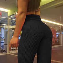 Calf Length Anti-Cellulite Leggings Women Scrunch Back pant Push Up Black Sport Leggings Fitness High Waist Workout Activewear