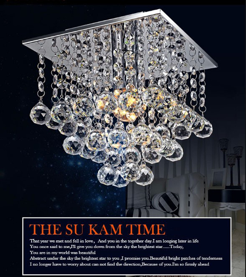 Mini LED Crystal Chandelier Crystal Lustre Modern LED ceiling lamp