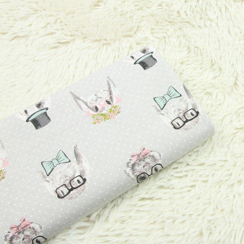 1b914d989 Cheap Medio metro 100% algodón tela de lona fina con estampado de conejo  pequeño de