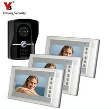 Yobang Security 7 TFT Video Door Phone Intercom Doorbell System Kit 700TVL Door Monitor One To