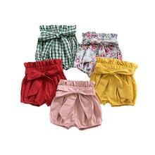 Летние шорты для маленьких девочек; Детские короткие штаны с большим бантом для девочек; летние детские повседневные шорты; Одежда для девочек