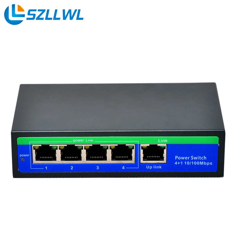 Network Ethernet Fast switch poe 5 port supply power 48V for cctv camera ip cameras Poe Switch 4 port industrial ethernet switch for eds 205a 5 port well tested working