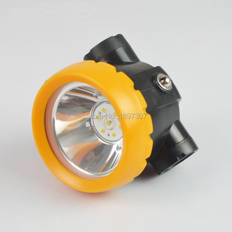 BK2000 1W 3500Lx LED minero de la batería tapa de minería Lámpara, faro de mina Luz de iones de litio faro + cargador
