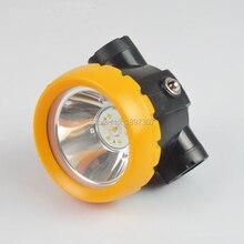 BK2000 1W 3500Lx batería LED, lámpara de tapa para minería, luz de mina, linterna de cabeza iónica de litio + cargador