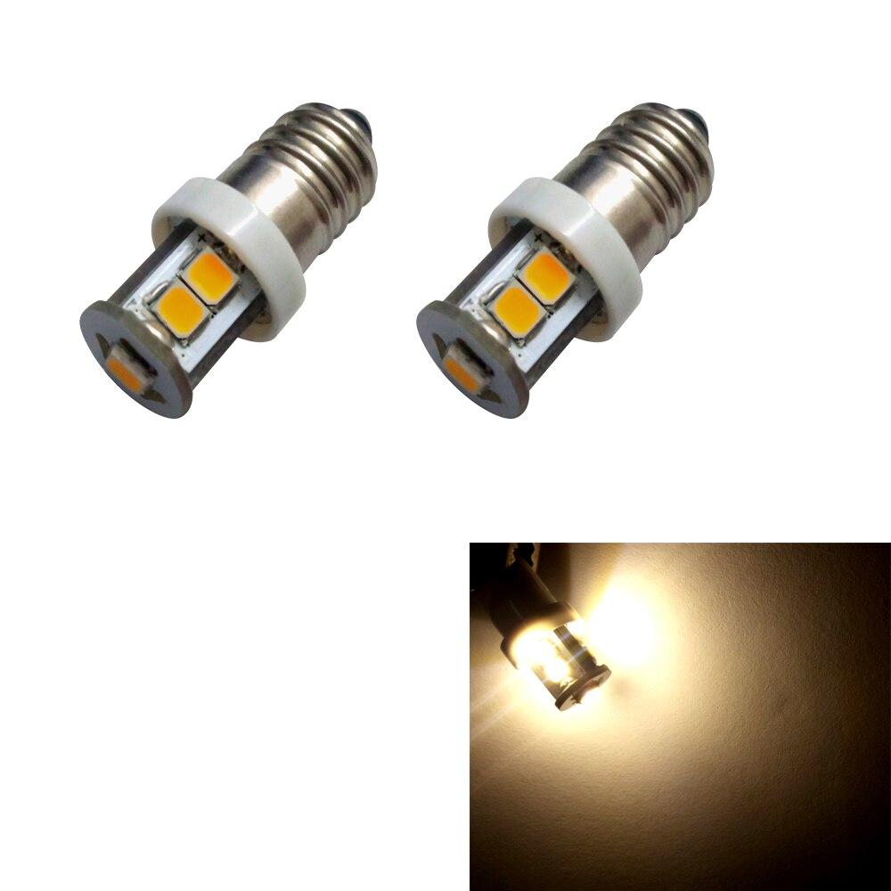 2шт высокое качество SMD 2835 7 Е10 свет аппаратуры Сид epistar 1W теплый белый головная Лампа 12V Бесплатная доставка