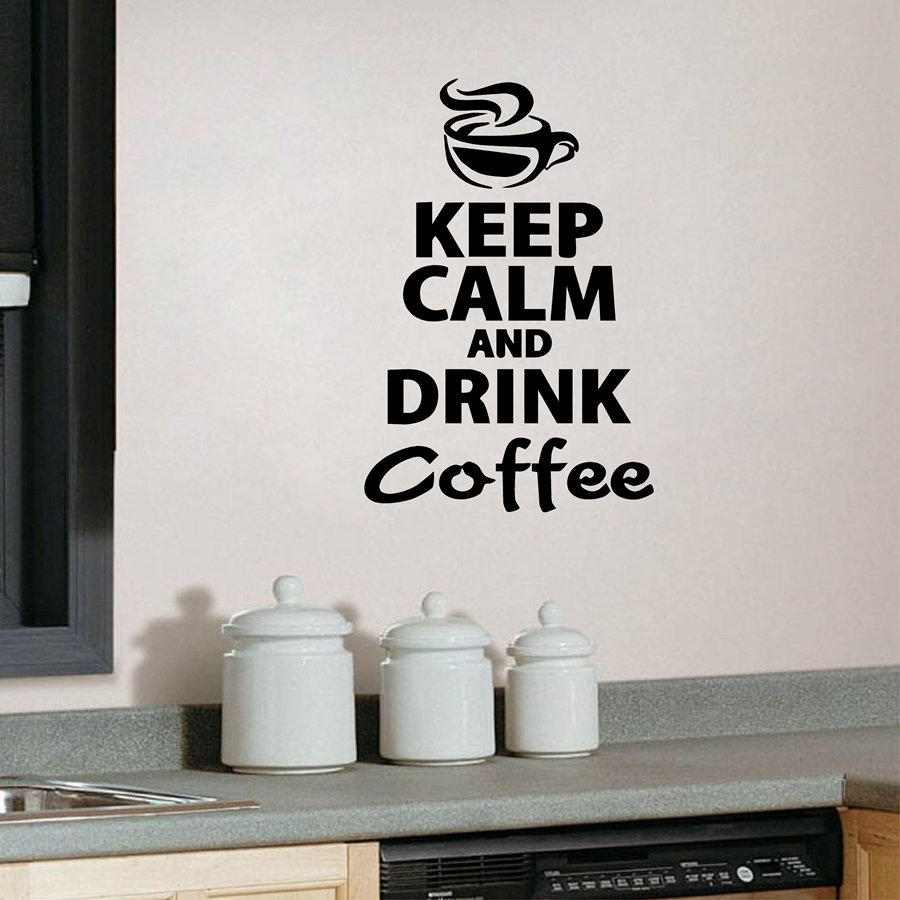 Kitchen Decor Stores: Coffee Kitchen Wall Stickers Murax Vinyl Wall Sticker