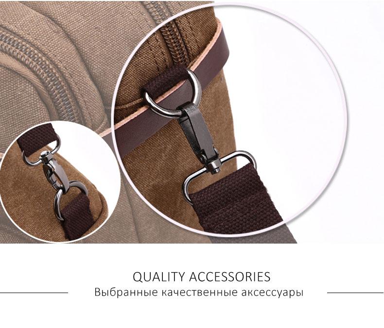 HTB13vvZKf5TBuNjSspmq6yDRVXaz Scione Men Canvas Bag Leather Briefcase Travel Suitcase Messenger Shoulder Tote Back Handbag Large Casual Business Laptop Pocket