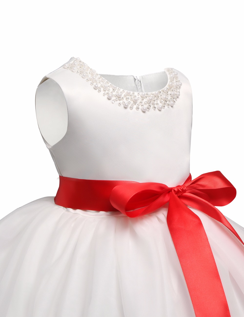 1 Year Birthday Party Gown Baby Girl Dress Wedding Summer Infant dress Princess for Newborn Girl Clothes White Baptism dress
