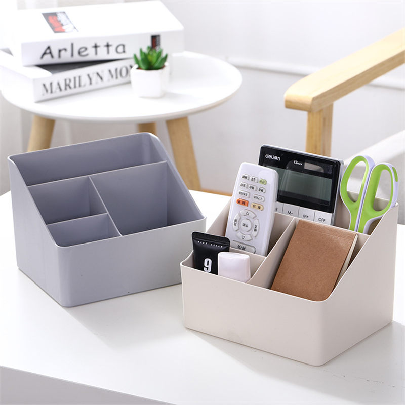 Coloffice Plastic Creative Stationery Holder Desktop Storage Box Stationery Debris Finishing Box Office School Supplies 1Piece