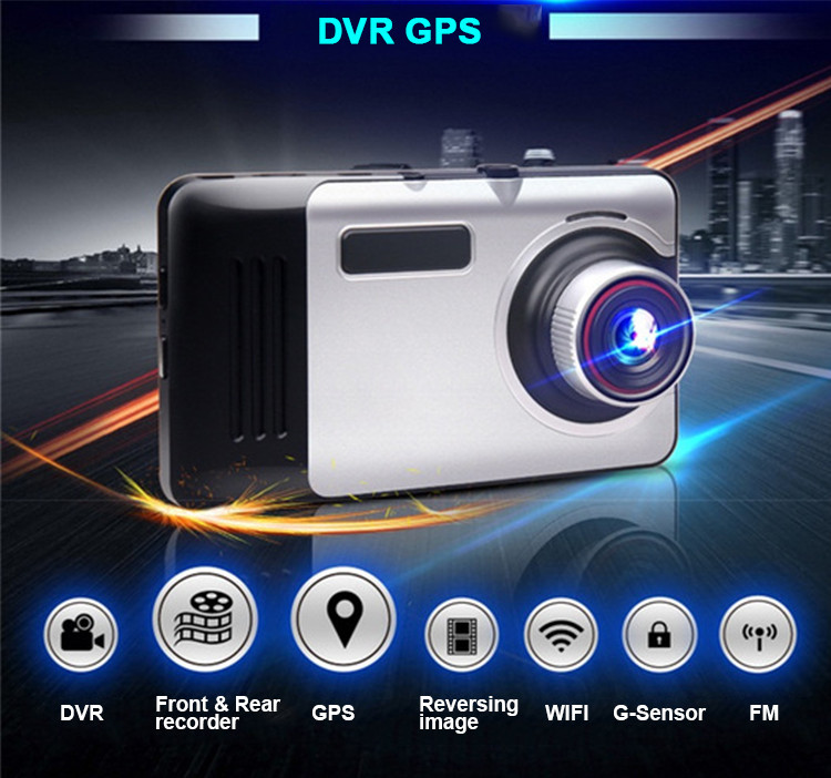 Android Car DVR Camcorder dual lens dash cam drive camera GPS Navigation video recorder Full hd 1080p auto registrator dvr wifi 5