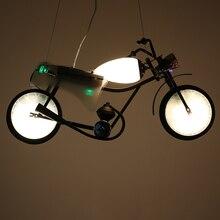 Промышленный подвесной светильник персонализированные украшения мотоцикла детская комната магазин одежды бар подвесной светильник ET48