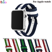 wrist band For Apple watch band Nylon strap 38mm/42mm for iwatch smart 4/3/2/1 series replacement high quality fashion bracelet top quality and favorable price for centurion smart 1 smart 2 smart 4 remote replacement