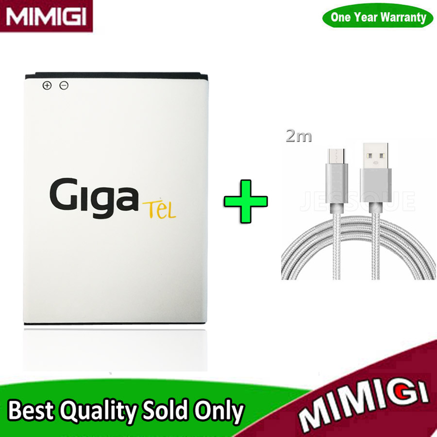Original 2000mAh Approx. 78*56*4mm Accumulator For GigaTel GMB-5HD Bluedot BNP-500 BNP-500XB Battery ACCU AKKU + Data Cable Gift