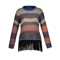 Autumn Winter Sweaters Women Pull Femme Knitwear Long Sleeve O Neck Long Pullover Patchwork Color Block