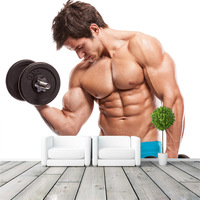 Muscle Fitness Photo Wallpaper Custom Wall Mural 3D Sport Wallpaper Gym Room Decor Bedroom Study Sofa