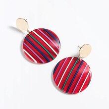 Multicolor Stripe Earrings For Women Candy Series Jewelry Round Geometry Drop Elegant Accessories Pendientes