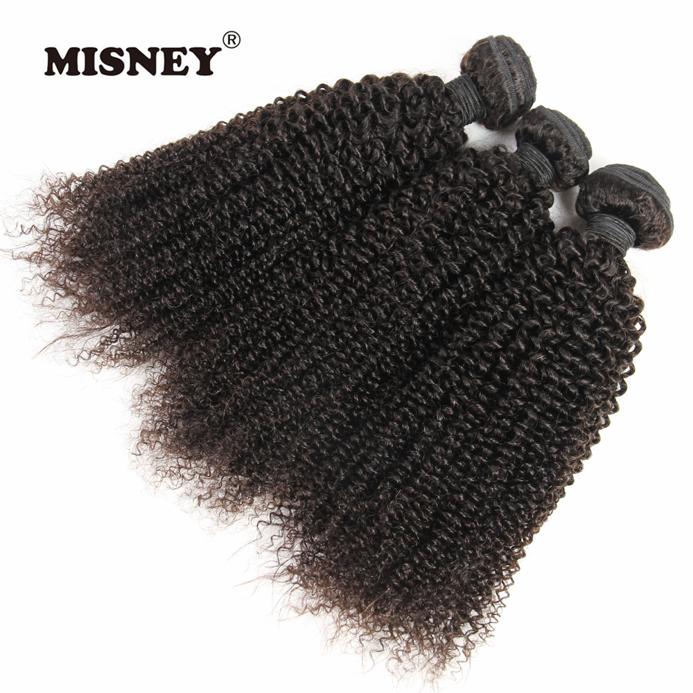 Indian Kinky Curly Hair Extension 100% Human Hair Weaving 3 Bundles Machine Double Weft  ...