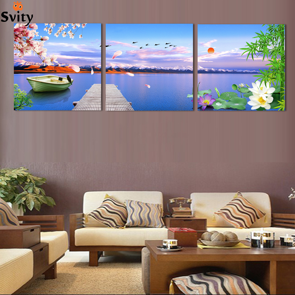 Modern Art Paintings For Living Room Popular 3 Piece Canvas Wall Art Buy Cheap 3 Piece Canvas Wall Art