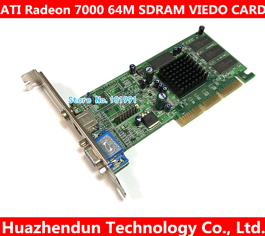Brand New ATI Radeon 7000 64M SDRAM VGA TVO AV AGP Graphic Card Video Card VGA+TVO+AV High Quality image