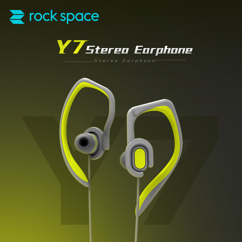 ROCK SPACE Sports Earphones Sweatproof Headsets Aptx HIFI Earhook Stereo Headphone with MIC for Xiaomi iPhone