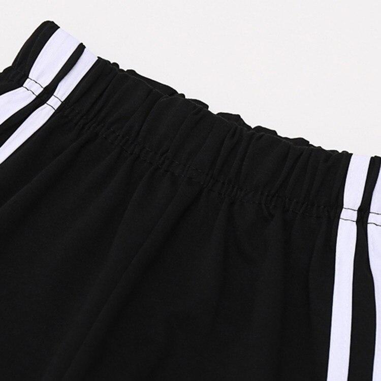 Для женщин в полоску Брюки для девочек Новинка весны 2017 года свободные Дизайн Высокая Талия белые полосатые штаны для женщина девушка Повсе...