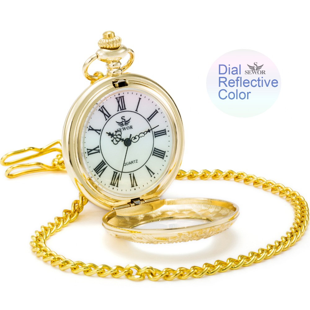 2017 SEWOR 4 colores dial reflectante color retro elegante reloj de - Relojes de bolsillo