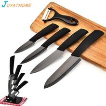 Joyathome 6pcs/Lot Black Blade Ceramic Knives Set Chef Knife Sliced Meat Kitchen Chopper Couteaux Ceramique