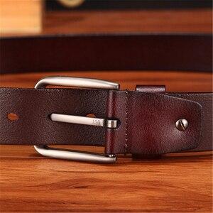 Image 5 - WESTERN AUSPICIOUS Genuine Leather Belt Luxury Designer Belts Men Cowskin Fashion Strap Male Jeans for Man Cowboy Belt Famous