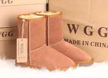 Hot Selling Fashion High Quality WGG  leather fur Warm Winter Snow Boots plus size woman 5-11SIZE