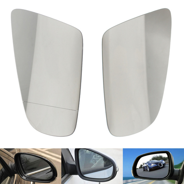 1Pair For Audi A4 B6/B7/C6 2005-2007 Door Wing Mirror Glass Heated Tinted Right Side Car Mirror Rearview Rear View Lens New