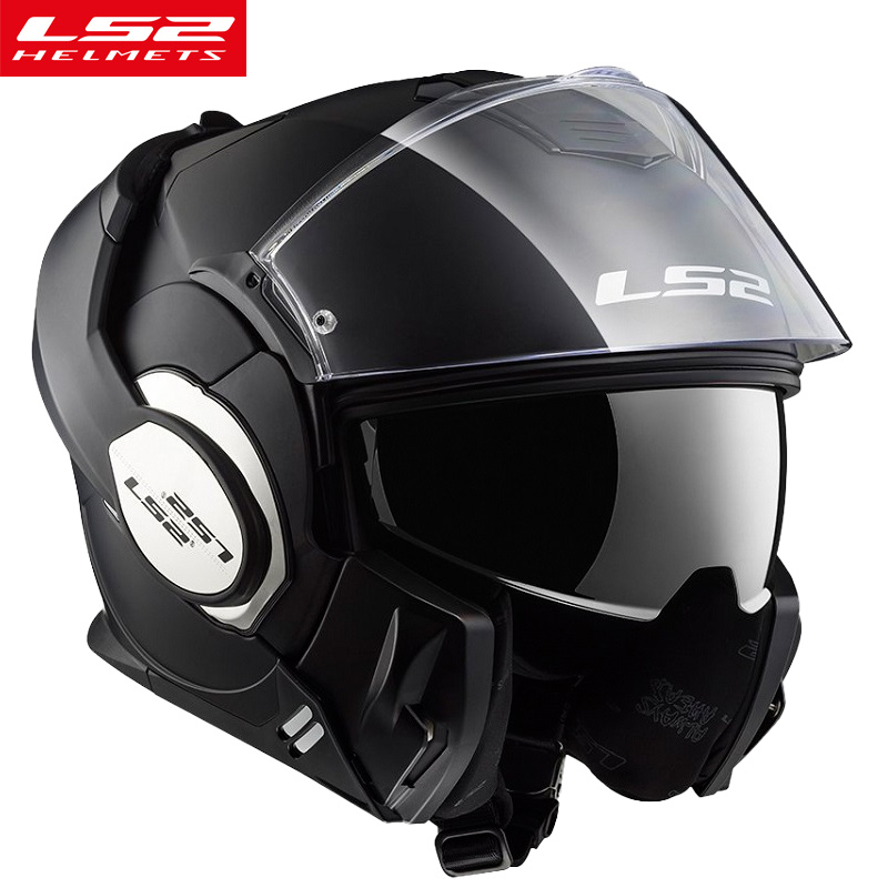 LS2 FF399 flip up motorcycle helmets modular full face moto helmet with anti-fog pinlock shield men women caseco LS2 helmets ls2 helmet