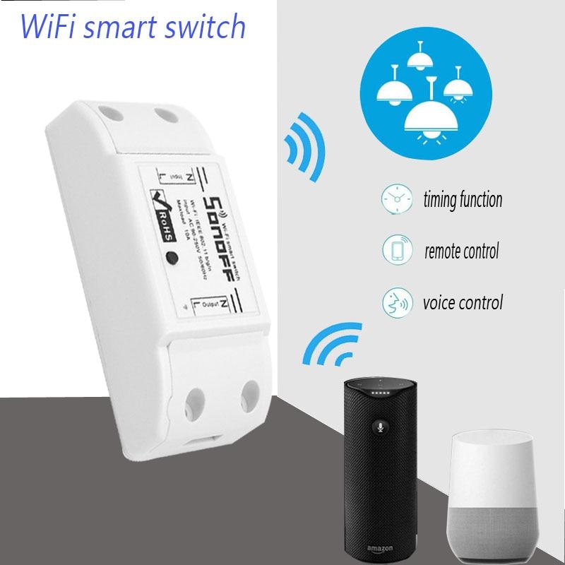 Chaude Sonoff Smart Wifi Commutateur Intelligent Universel Sans Fil Commutateur BRICOLAGE MQTT COAP Android IOS Télécommande Pour La Maison Intelligente